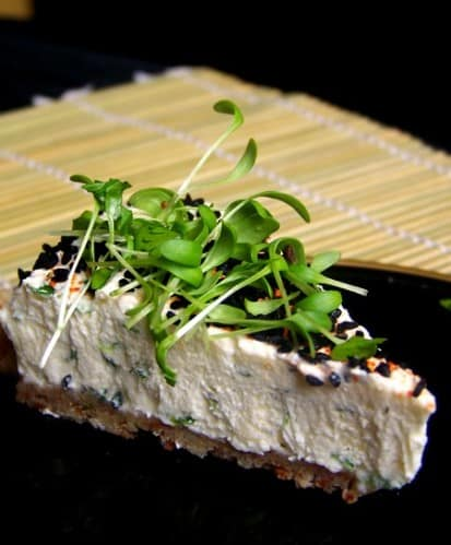 Cheesecake aux herbes aromatiques, sans cuisson