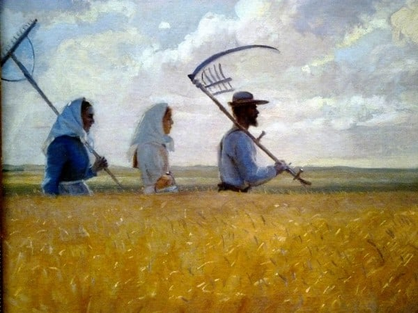 anna ancher, harvest time