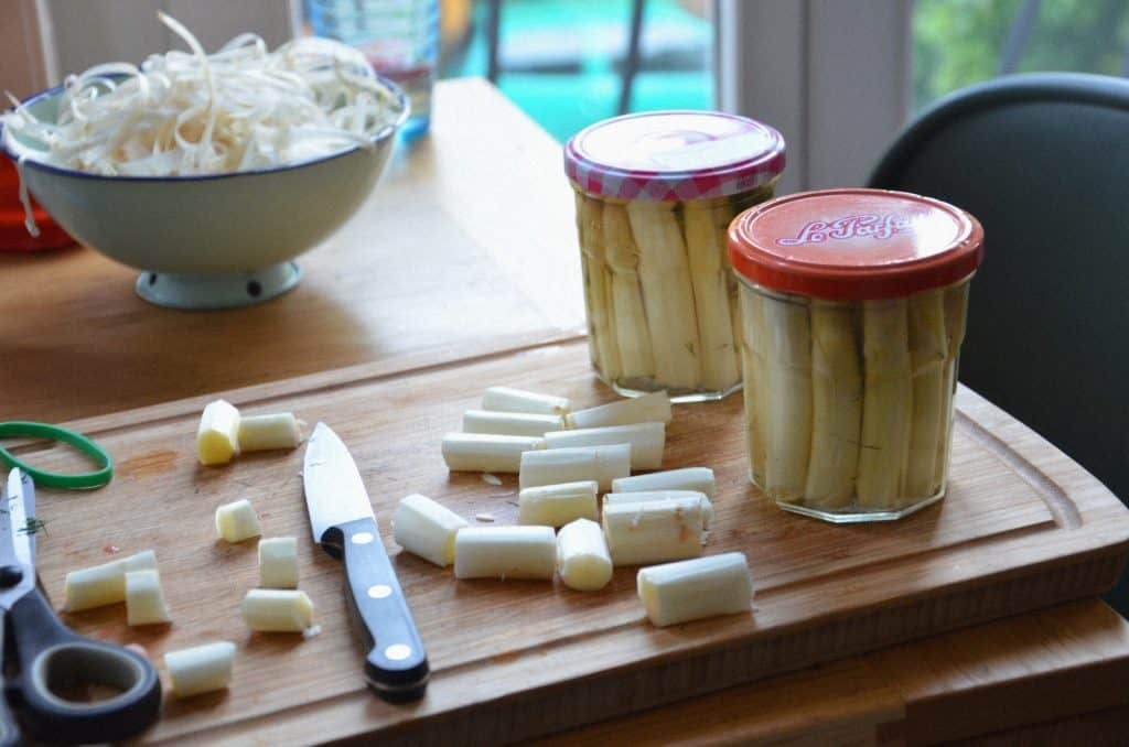 Pickles d'asperges blanches